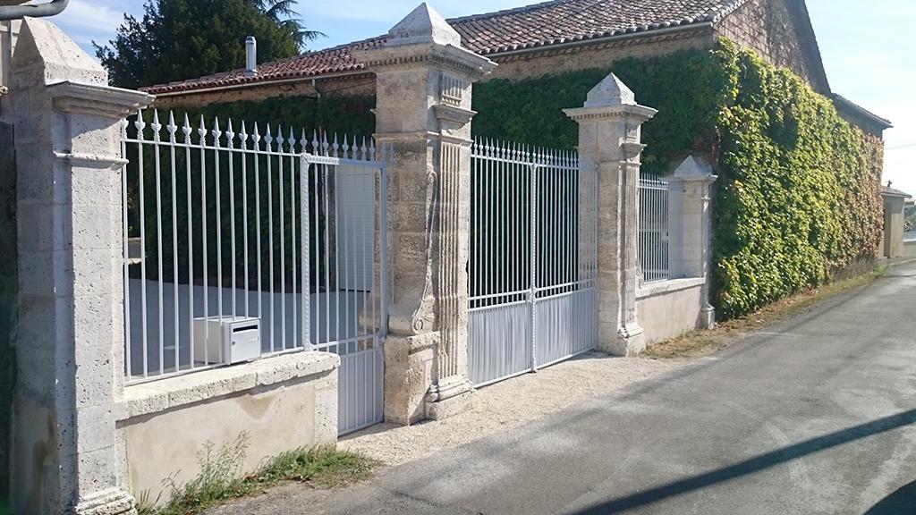 Restauration ferronnerie d'un portail du 19e