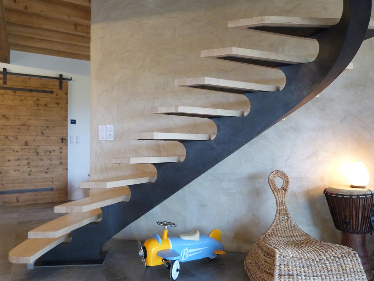Escalier Bresse © Les forges Rémi BOUILLOUX